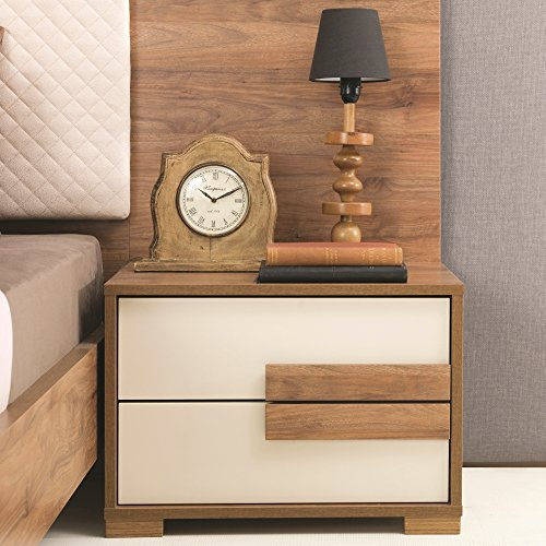 Adam and Illy AUR0456 Aura Nightstand, Marble Walnut/Ceramic (Aura Design Furniture)