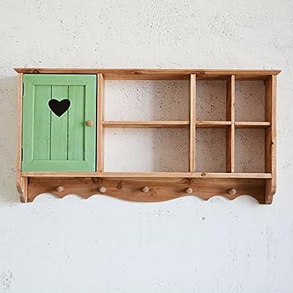 ZWL Armadi da parete in legno, armadietti di immagazzinaggio della ...