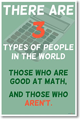 There Are 3 Types of People- NEW Humorous Classroom Math Poster