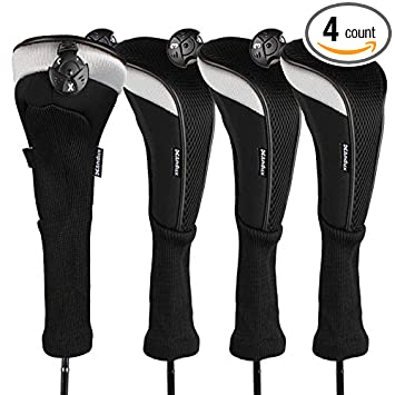 Andux 4pcs/Pack Long Neck Golf Hybrid Club Head Covers Interchangeable No. Tag CTMT-02