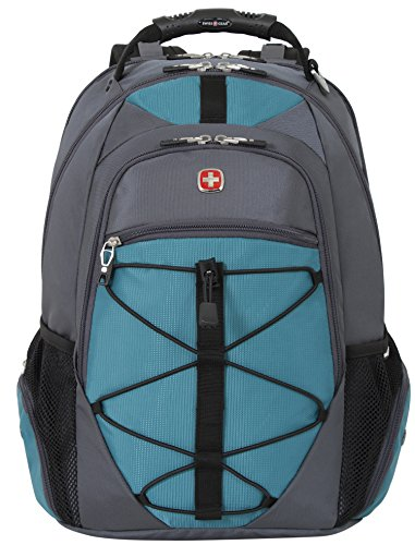 8165636096a6 Swiss Gear SA6799 Gray with Teal TSA Friendly ScanSmart Laptop Backpack -  Fits Most 15 Inch Laptops and Tablets