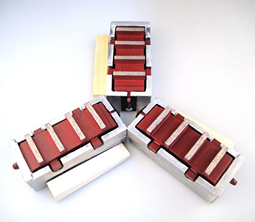 3Pack Diamond Grinding Blocks for Edco, Stow and General Equipment