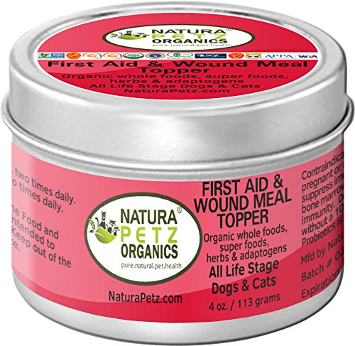 Natura Petz Organics First Aid and Wound Meal Topper for Dogs and Cats by Natura Petz Organics
