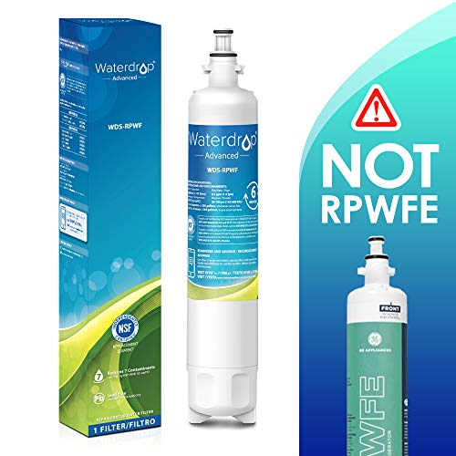 Waterdrop NSF 53&42 Certified Refrigerator Water Filter, Compatible with GE RPWF(Not RPWFE), Advanced