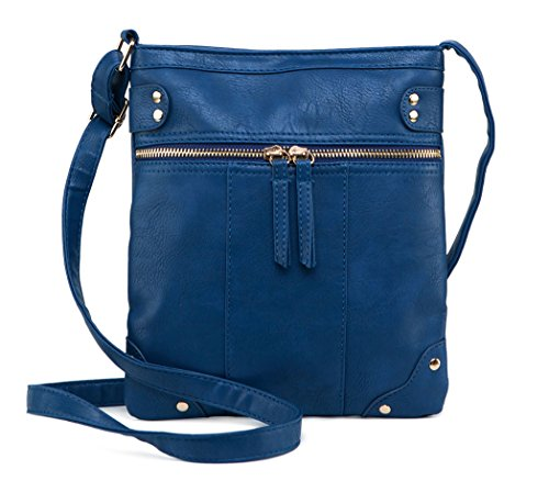 Crossbody ilishop Modern Bag for Classic Women Blue Fashion PU Solid Leather wFFxHgqf
