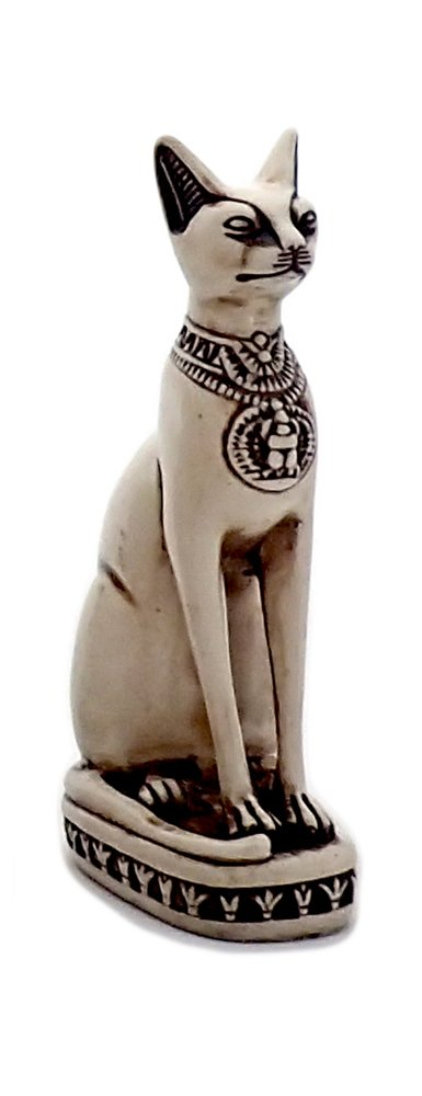 Bastet Cat Goddess Statue Collectible Figurine – Made in Egypt and Packaged in Decorative Hieroglyphicボックス S ホワイト Bastet_Small_White B00JYJL822 Small ホワイト ホワイト Small