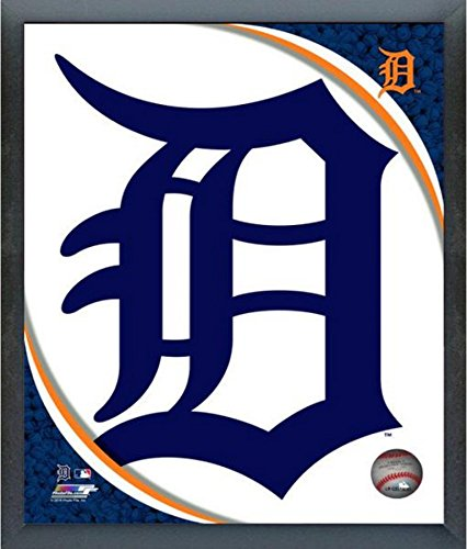 Photo Framed Tigers Detroit (Detroit Tigers 2016 MLB Team Logo Photo (Size: 17