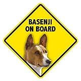 Basenji On Board Home & Car Window Swinger Sign