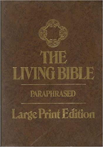 The Living Bible Paraphrased Large Print Edition Tyndale Amazon Com Books Audio