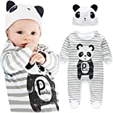 FEITONG 1Set Newborn Infant Baby Boys Girls Romper+ Hat (18 Months, Gray)