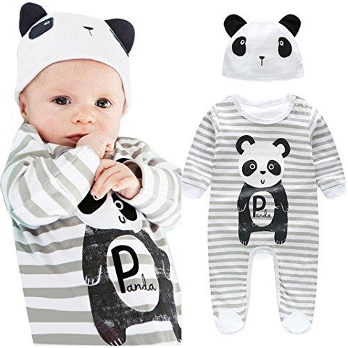 FEITONG 1Set Newborn Infant Baby Boys Girls Romper+ Hat
