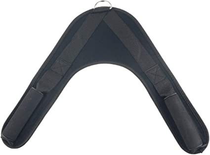 Ab Crunch Harness Abdominal Exerciser Padded V-Shape Strap Trainer Equipment
