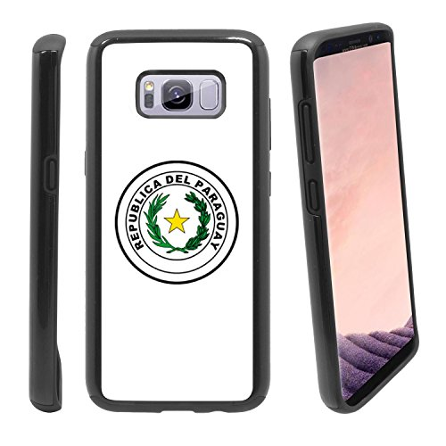 Shockproof Samsung Galaxy S8+ Plus Anti-Scratch Dual Layer Black Rugged Protective Case with Color Printing - Coat of Arms of Paraguay