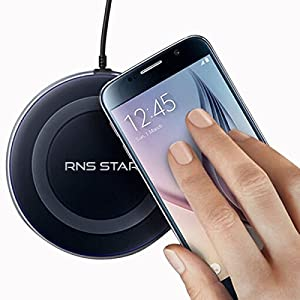 Best Universal Qi Certified Wireless Charger with Anti-Slip Rubber for iPhone 8 / 8 Plus, iPhone X, Samsung Galaxy Note 8 / S8 / S8 Plus, S6/ S7 / S7 Edge and Qi-Enabled Devices ( Black )