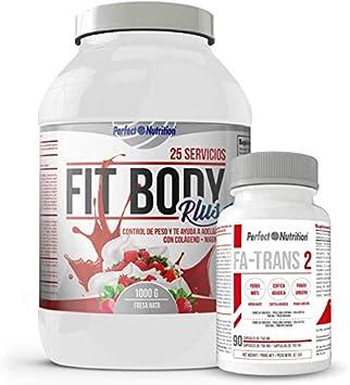Pack adelgazamiento : Batido sustitutivo de comida + quema grasas termogenico dieta hombre y mujer (Fresa - Nata 1KG)