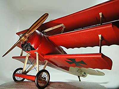 High End Aircraft Model Airplane 1 Antique WW1 Triplane 16 Vintage 32 Military Fighter Armour 48 Pre Built 18 Rare Collector Carousel Red Collectible Museum Quality Investment Grade To Scale