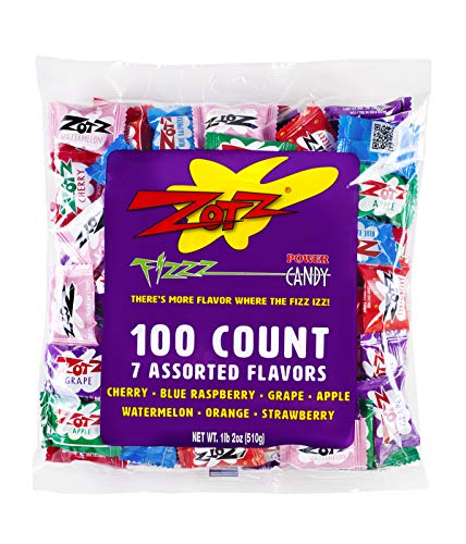 (Zotz Fizzy Candy Bag, Assorted Flavors, 100 Count)