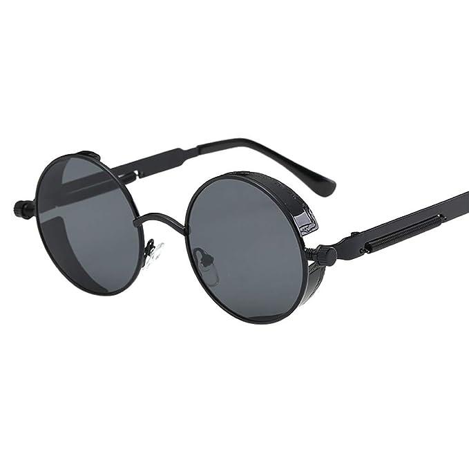 Mymyguoe Unisex Gafas de Sol Vintage para Hombre Retro Gafas ...