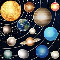 Glow in The Dark Stars and Planets,Bright Solar System Wall Stickers,Ceiling Wall Decals Kids Bedroom.