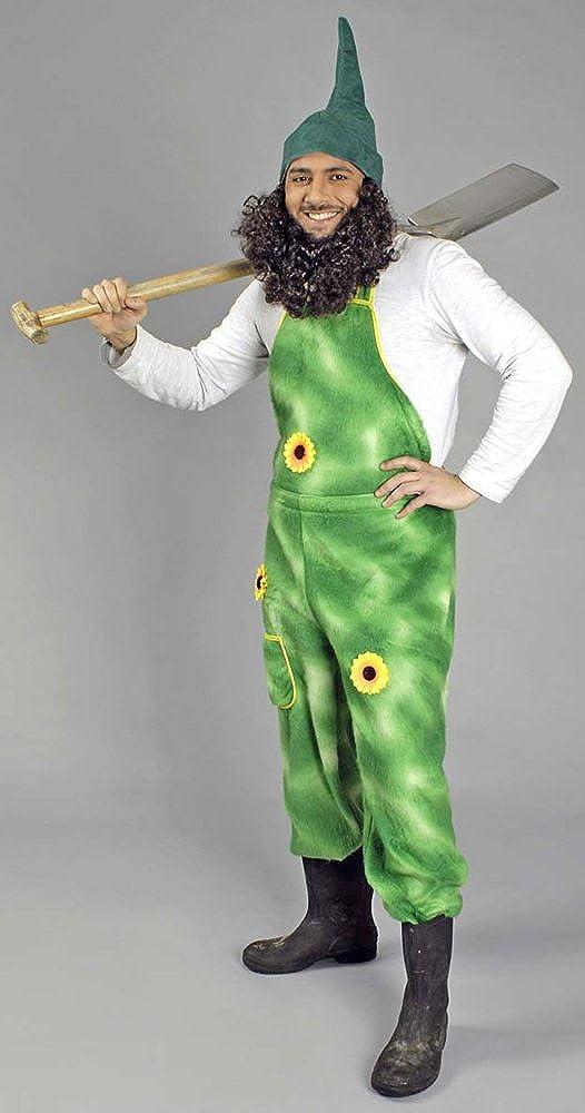 Disfraz de jardinero con peto hecho de felpa para hombre, diseño ...