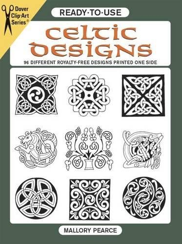 Big Book Clipart - Ready-to-Use Celtic Designs: 96 Different Royalty-Free Designs Printed One Side (Dover Clip Art Ready-to-Use)