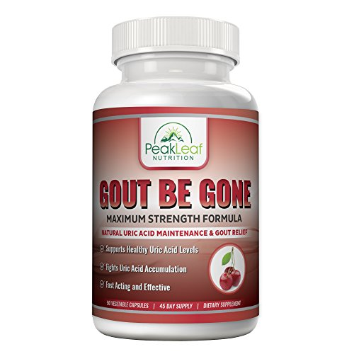 G-OUT BE GONE! Uric Acid Cleanse and Joint Treatment Formula - Extra Strength – 90 Caps – Supports