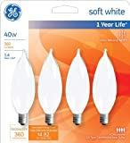 GE Bent Tip Decorative Light Bulbs (40 Watt), 360