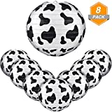 Jetec 8 Packs Cow Print Lanterns 8 Inch Farm Animal Black and White Paper Lanterns for Home Craft Decoration Children's Birthday Cowboy Themed Parties Cow Paper Lanterns Decorative