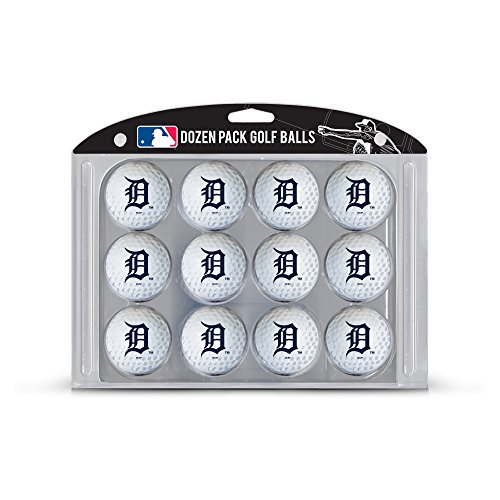 Team Golf MLB Detroit Tigers Dozen Regulation Size Golf Balls, 12 Pack, Full Color Durable Team Imprint