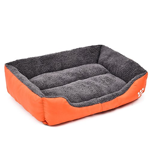 orange XXL orange XXL BigShi-AUSPICIOUS Detachable Dog Bed Pet Mattress Dog Basket Suitable for Small and Large Dogs Internal Thickening Plush Super Warm and Comfortable (color   orange, Size   XXL)