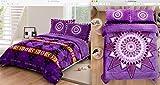 Southwest Design ''Star Blanket'' REVERSIBLE Super Thick_King Size 3pcs Set Purple