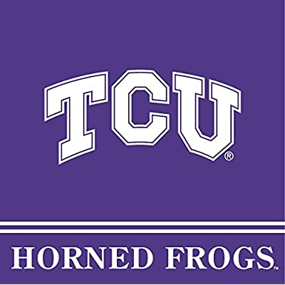 TCU Horned Frogs GRADUATION Party Supplies for 16 Guests - 62 pieces: Kitchen & Dining