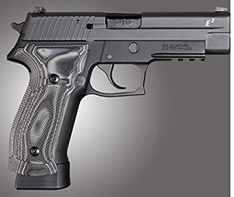Hogue SIG Sauer P226 DA/SA Magrip Checkered G10, G-Mascus Black/Gray, Black/Grey 23177