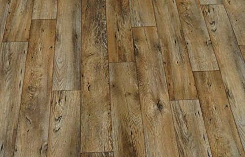 L/änge: 550 cm, Breite: 300cm braun von Alpha-Tex 9.95/€//m/² PVC in rustikaler Holz-Optik