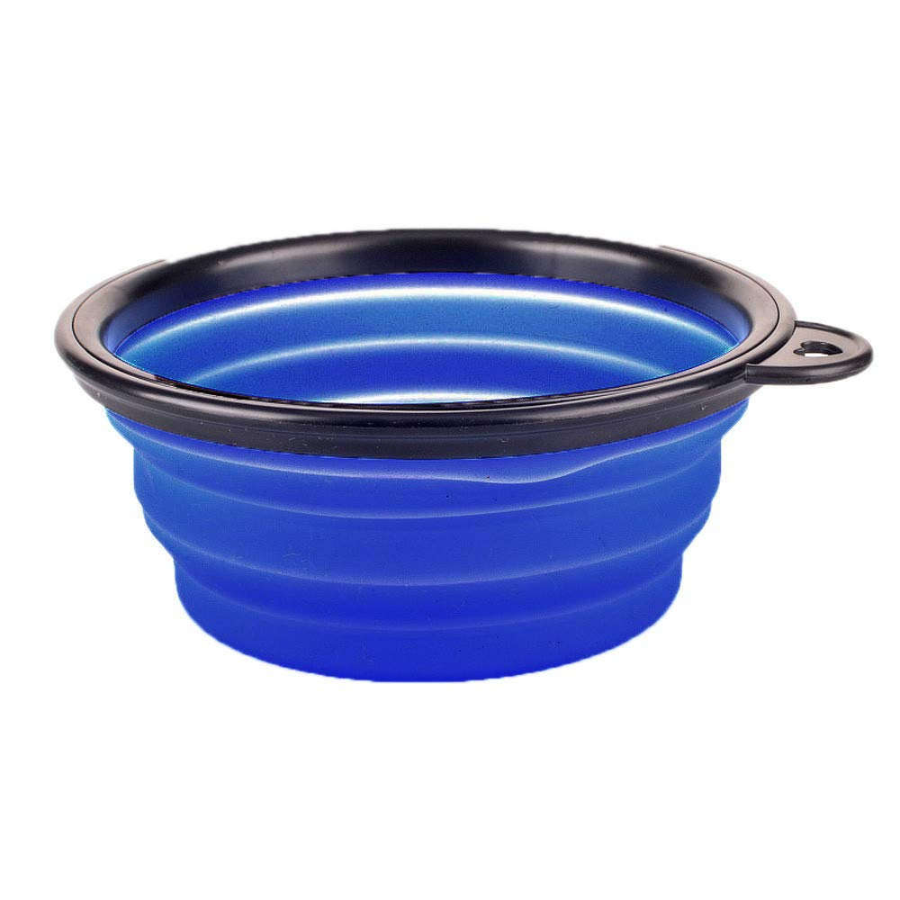 Pet Expandable/Collapsible Silicone Food & Water Travel Bowl for Small & Medium Dog and Cat
