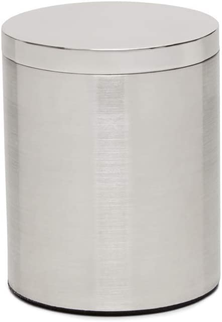 Calvin Klein Home Strata Bath Collection, Cotton Jar, Stainless Steel
