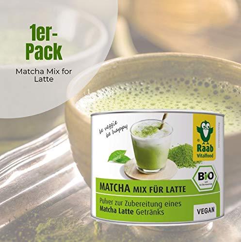 Raab vitalf Brentwood bio Matcha de Mix for Latte, extracto de té verde de Japón, Premium Calidad, laborgeprüft Vegano, 90 g: Amazon.es: Salud y cuidado ...