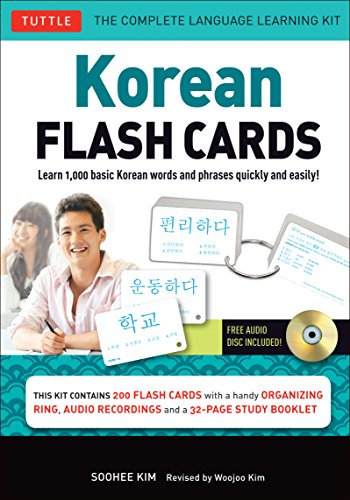 Korean Flash Cards Kit: Learn 1,000 Basic Korean Words and Phrases Quickly and Easily! (Hangul & Romanized Forms) (Audio-CD Included) by Kim Soohee