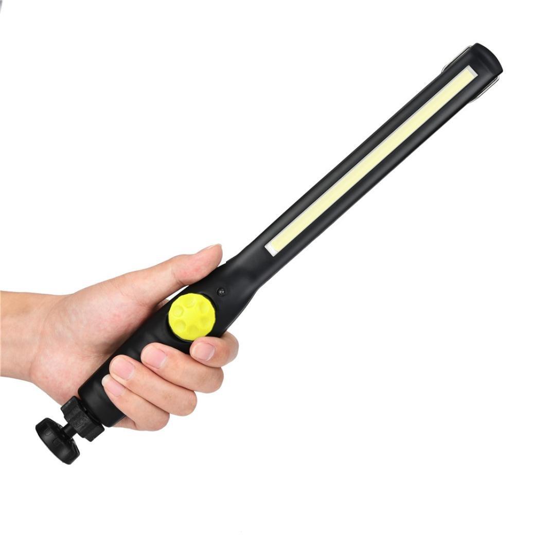 Verde STRIR 410 Lumen Linterna de Trabajo LED Recargable 2 en 1 Luz de Trabajo Recargable COB Linterna Trabajo l/ámpara de inspecci/ón con Clip magn/ético,bater/ía 2200mAh