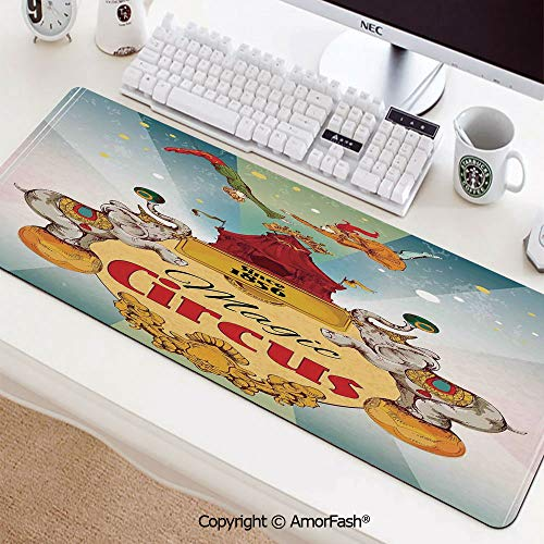 Mouse Pad,Anti Slip Planet Mouse Mat for Desktops,Computer,PC and Laptops,35.5