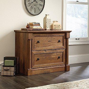Oak Filing File Cabinet (Sauder Palladia Lateral File in Vintage Oak)