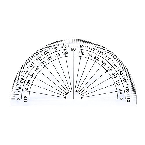 how to draw a 20 degree angle with a protractor