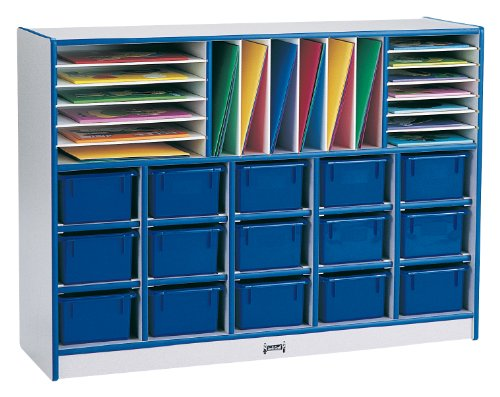 Rainbow Accents 0415JCWW003 Sectional Cubbie-Tray Mobile Unit Without Trays, ()