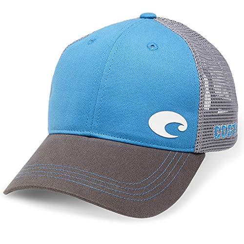 - Costa Del Mar Offset Logo XL Fit Trucker Hat, Blue