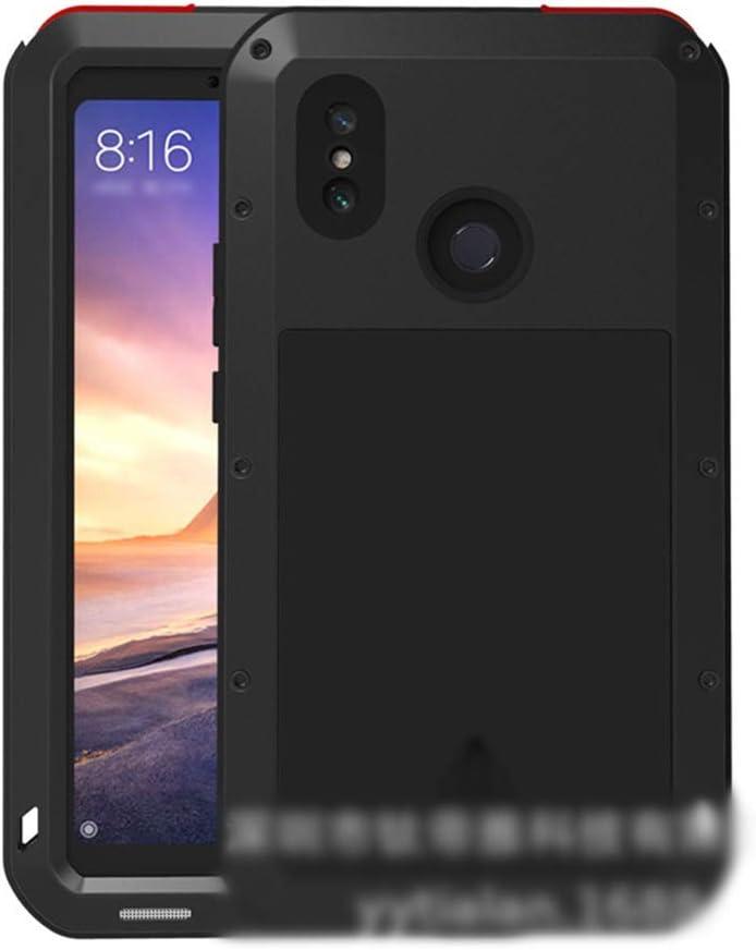 ACHAOHUIXI Xiaomi Max3、max、2,8、mix2s、mix2、mix用の正確なデザイン3つのアンチ携帯電話シェル新しいメタルドロップ保護スリーブ (Color : 黒, Edition : Max3)