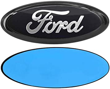 "For F150 Expedition 7/"" Black Tailgate Emblem Oval Decal Badge Nameplate"