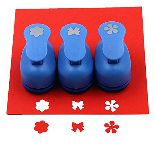 Cady Crafts punch set 5/20, 3 cm Paper Punches 3pcs/set Flower. snowflake. Leaves