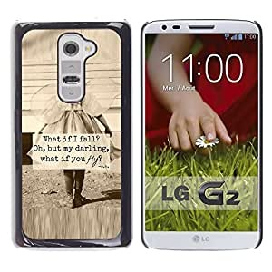Impact Case Cover with Art Pattern Designs FOR LG G2 Little Girl Sepia Mother Love Inspiring Betty shop