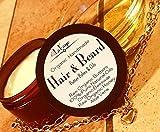 Men's Organic Handmade Hair & Beard Butter Balm and Oil Set w/Batana/Ojon Oil, Emu Oil, BJCO + Aloe Vera | All Natural Men's Haircare