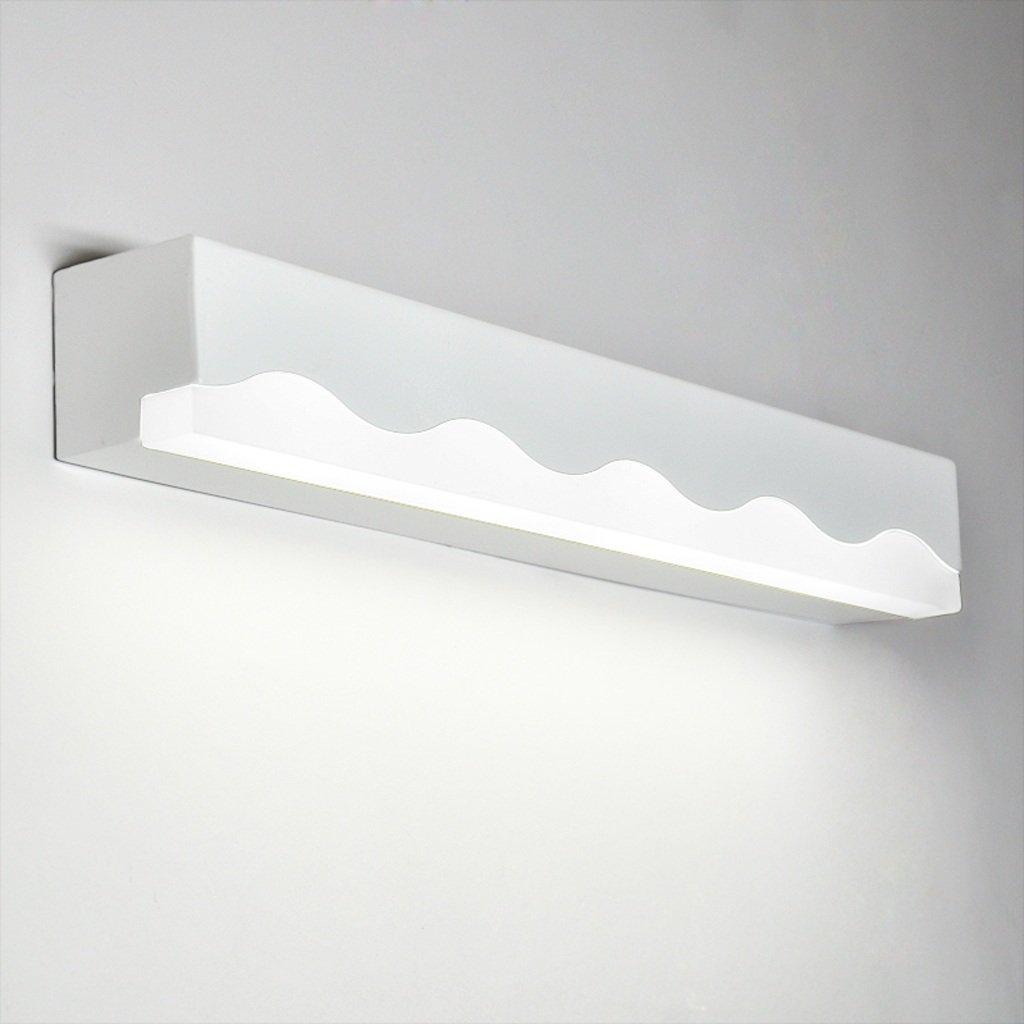 JJJJD Badezimmer-Badezimmer-Spiegel-Scheinwerfer, LED-Verfassungs-Lampe, Farben-Legierung + Acryl, weiß (Größe   40CM6CM5.5CM 12W)